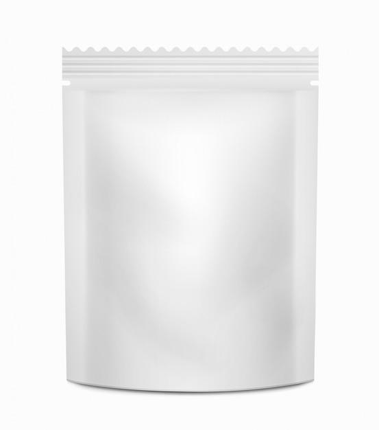 Weißes leeres verpackungsbehälterlebensmittel oder -getränke. Premium Vektoren