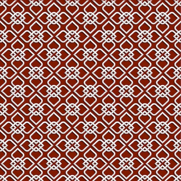 Weißes muster 3d in der islamischen art Premium Vektoren