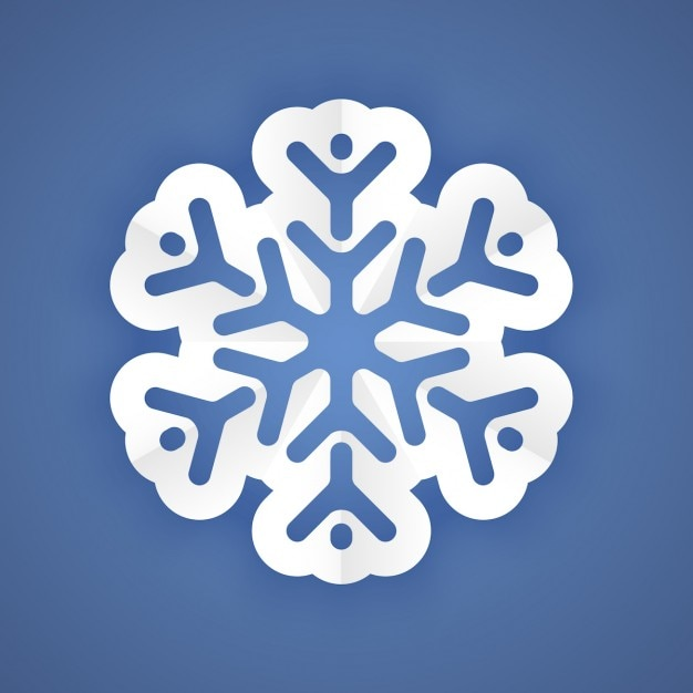 Weißes Papier Schneeflocke Kostenlose Vektoren