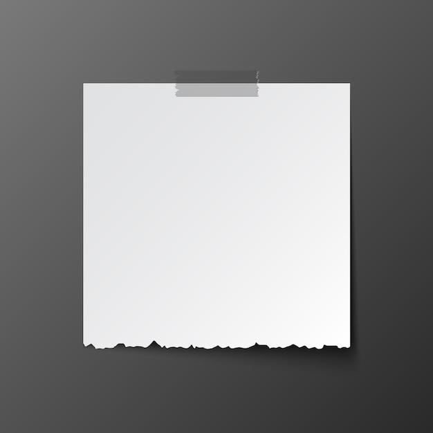 Weißes postbriefpapier mit schatten Premium Vektoren