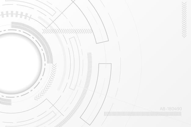 Weißes technologie-hintergrundkonzept Premium Vektoren