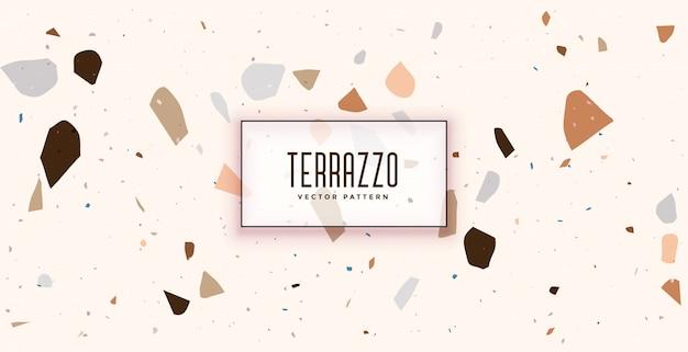 Weißes terrazzo-formmuster-texturhintergrunddesign Kostenlosen Vektoren