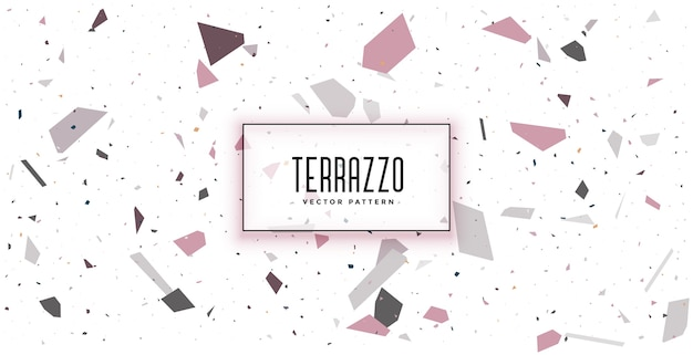 Weißes terrazzobodenfliesenmuster-texturhintergrunddesign Kostenlosen Vektoren