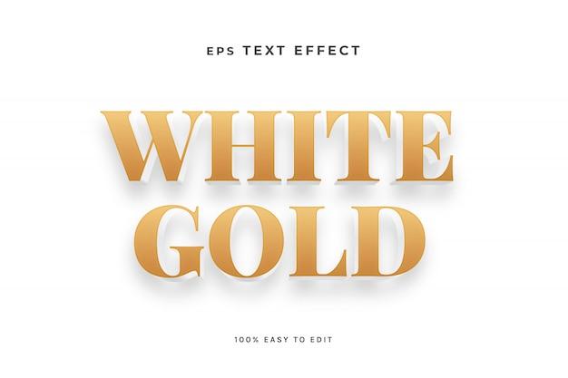 Weißgold-texteffekt Premium Vektoren