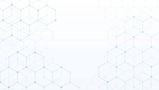 Weißhintergrund der digitalen daten der technologieverbindung. Premium Vektoren