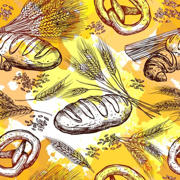 Weizen nahtlose muster Kostenlosen Vektoren