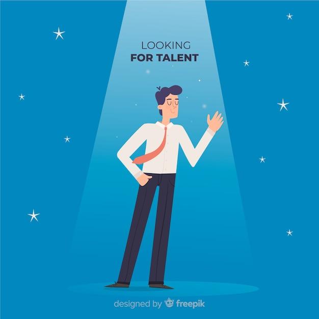 Wellenartig bewegender mann, der talenthintergrund schaut Kostenlosen Vektoren
