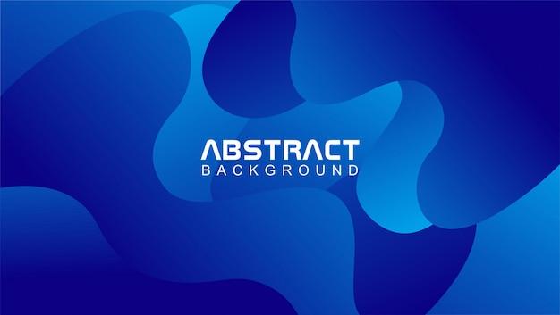 Wellenförmige abstrakte hintergrundschablone in der blauen farbe Premium Vektoren