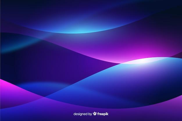 Wellenförmige formen abstrakten hintergrund mit farbverlauf Kostenlosen Vektoren