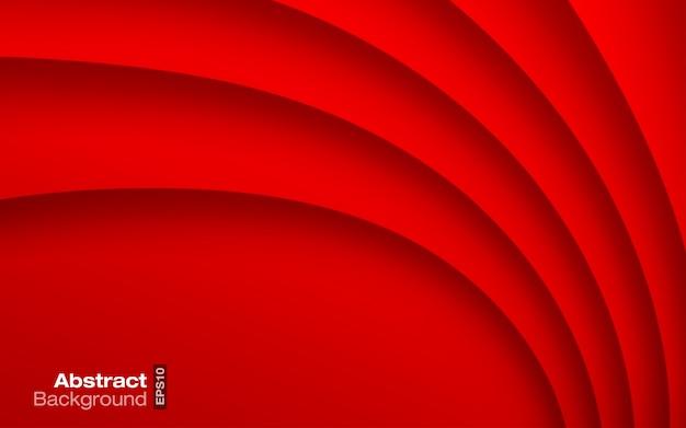 Wellenförmiger hintergrund der roten hellen farbe. visitenkarte. Premium Vektoren
