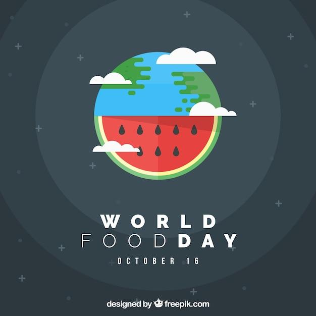 Welt essen tag hintergrund wassermelone design Kostenlosen Vektoren