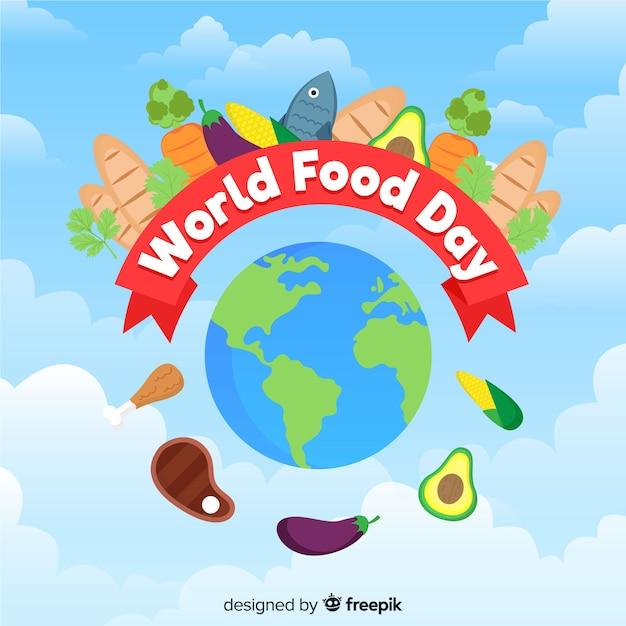 Welt-food-tag-hintergrund-konzept Kostenlosen Vektoren