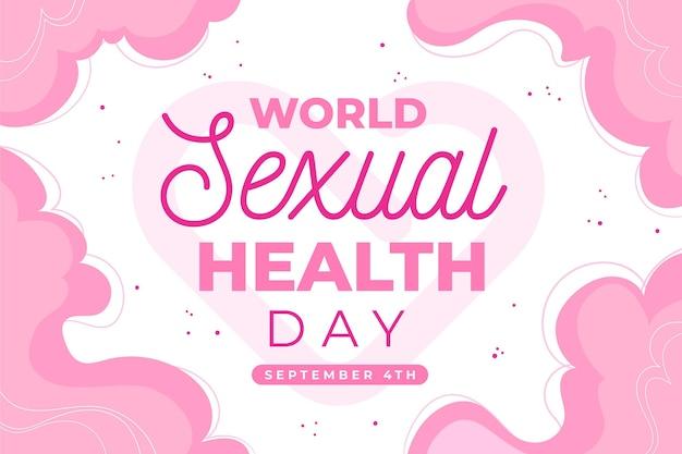 Welt hintergrund der sexuellen gesundheit tag Kostenlosen Vektoren