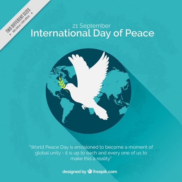 Welt hintergrund mit peace-zeichen Kostenlosen Vektoren
