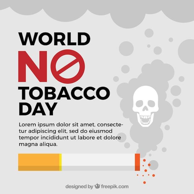 Welt kein tabak tag hintergrund vorlage Kostenlosen Vektoren