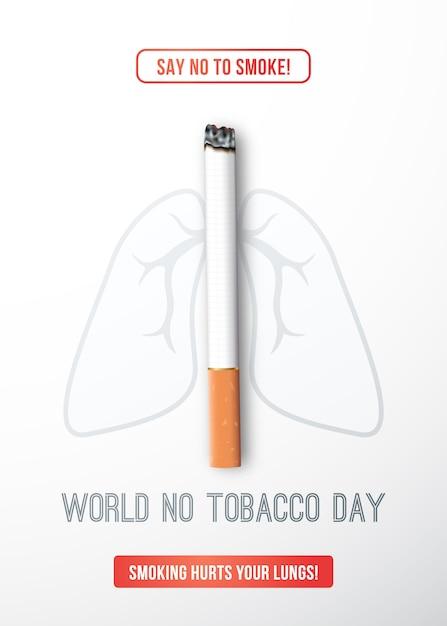 Welt kein tabak tag. Premium Vektoren