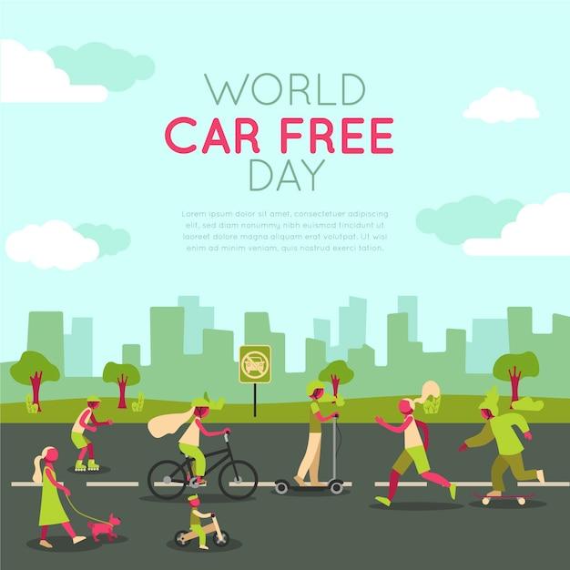 Weltautofreier tag Kostenlosen Vektoren