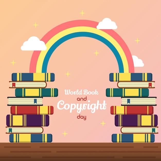 Weltbuch- und -copyright-tagesillustration Premium Vektoren