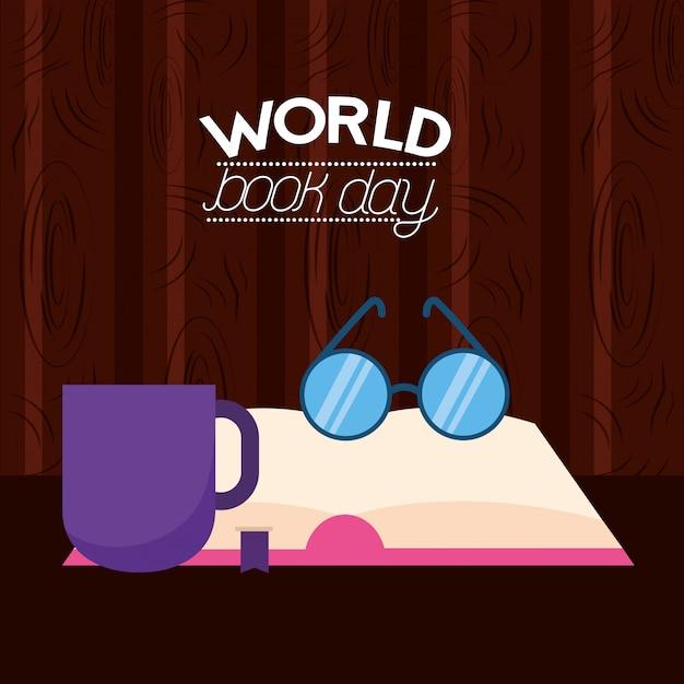 Weltbuchtag illustration Kostenlosen Vektoren