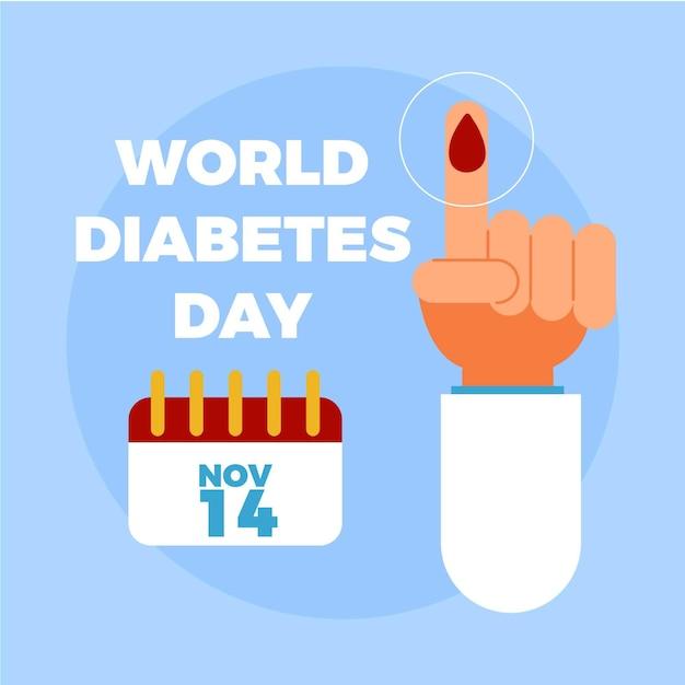 Weltdiabetestag Kostenlosen Vektoren