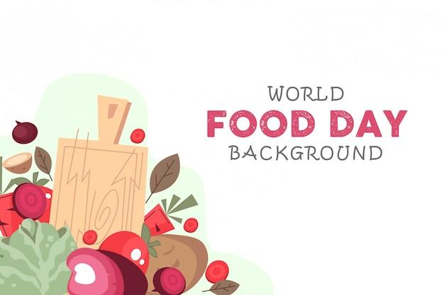 Welternährungstag hintergrund Premium Vektoren