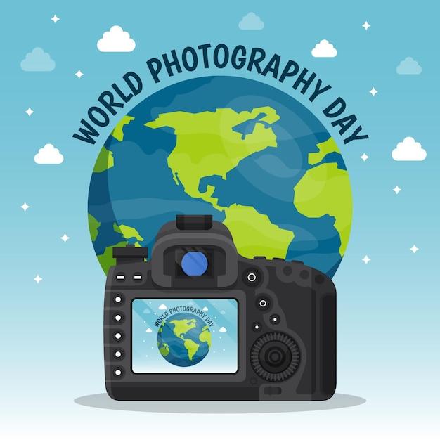 Weltfotografietag Kostenlosen Vektoren