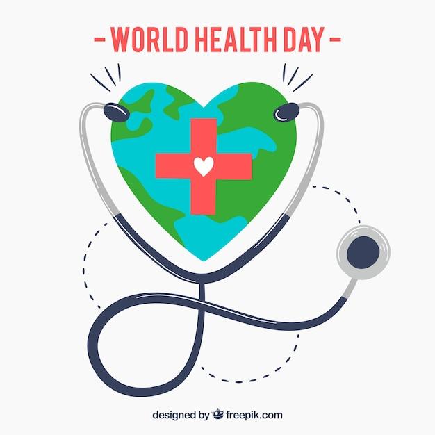 Weltgesundheitstag hintergrund Kostenlosen Vektoren