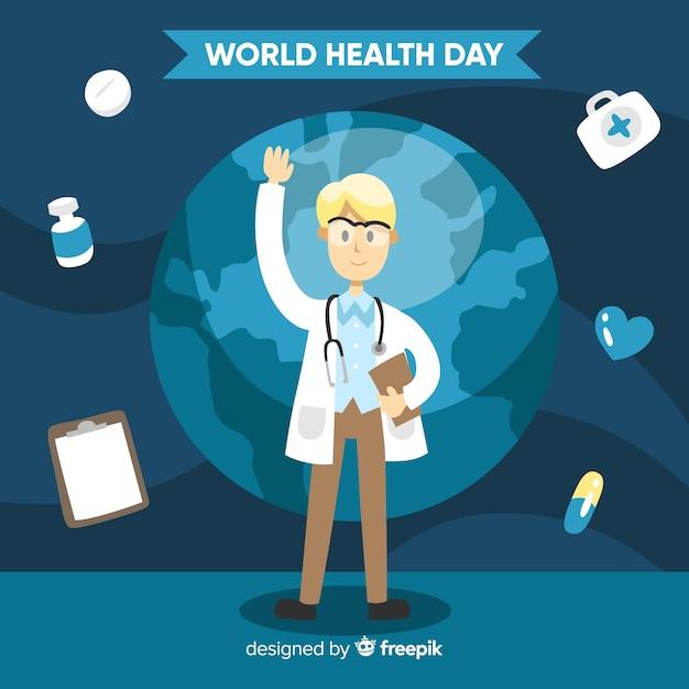 Weltgesundheitstag Kostenlosen Vektoren