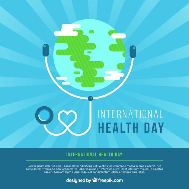 Weltgesundheitstageshintergrund in der flachen art Kostenlosen Vektoren