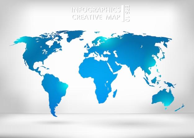 Weltkarte abbildung. Premium Vektoren
