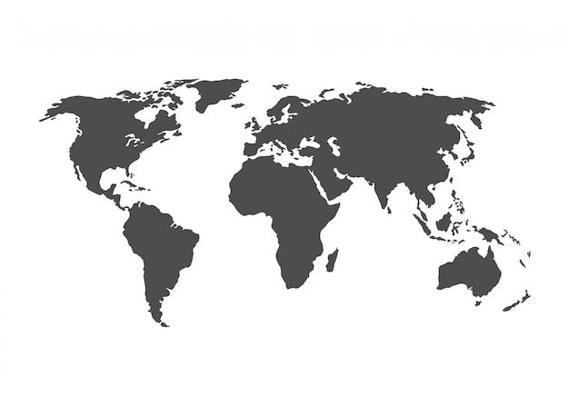 Weltkartenvektor Premium Vektoren