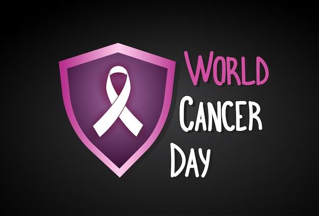Weltkrebs-tagesbrustkrankheits-bewusstseins-verhinderungs-plakat-gruß-karte Premium Vektoren