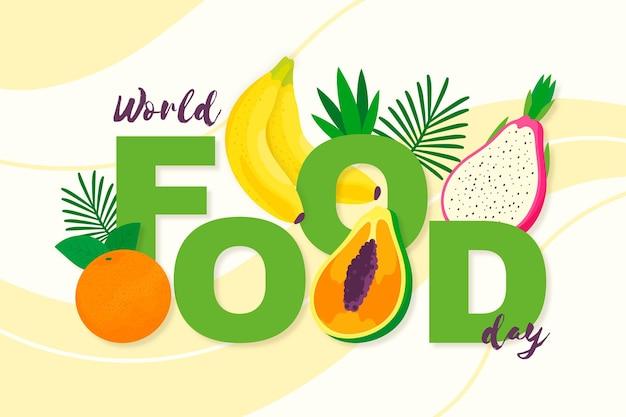 Weltnahrungsmittel-tagesereignis des flachen designs Kostenlosen Vektoren