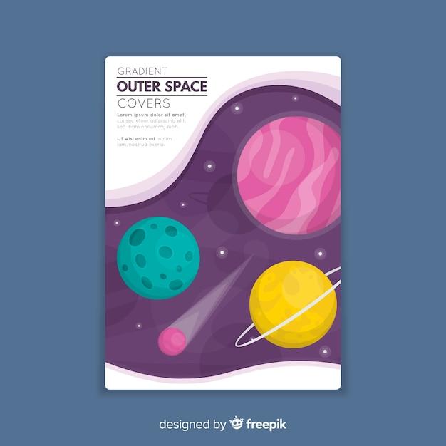 Weltraumabdeckung Kostenlosen Vektoren