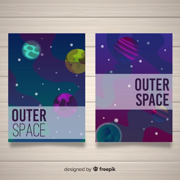 Weltraumabdeckungen Kostenlosen Vektoren