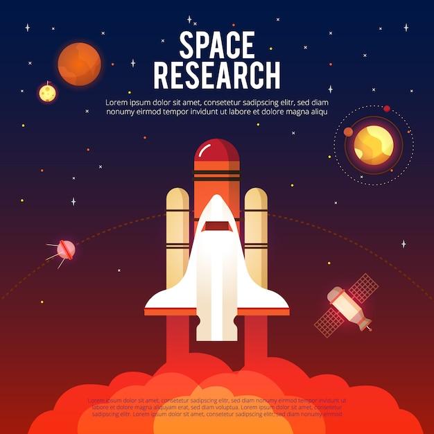 Weltraumforschung und erforschung Kostenlosen Vektoren