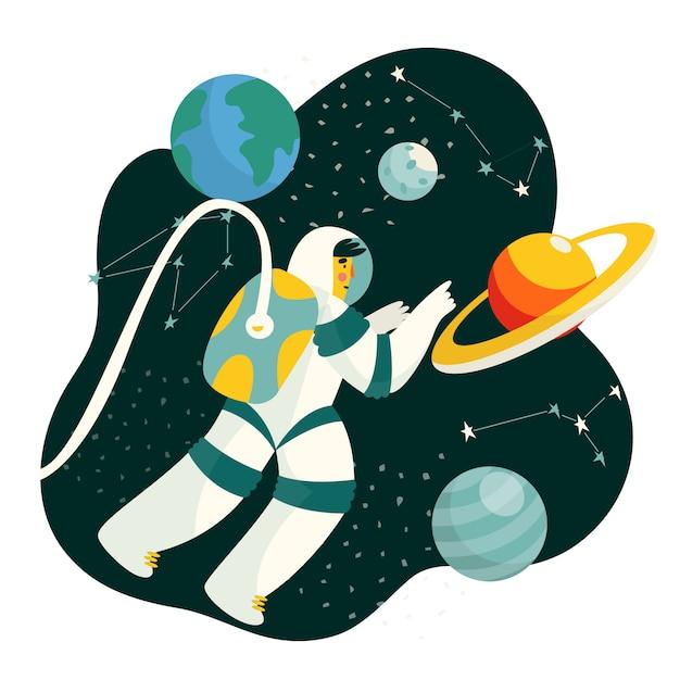 Weltraumforschung Premium Vektoren