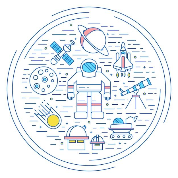 Weltraumuniversum-konzept Kostenlosen Vektoren