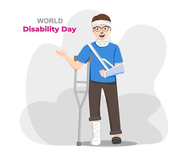 Welttag der behinderung, behinderte. Premium Vektoren