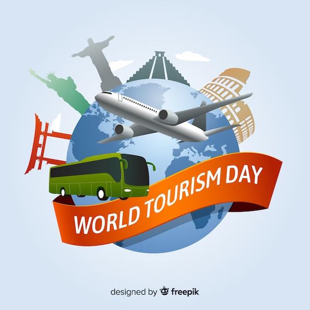 Welttourismustageshintergrund Kostenlosen Vektoren