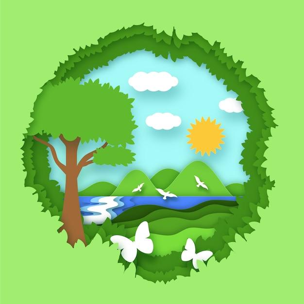 Weltumwelttag mit der natur Kostenlosen Vektoren
