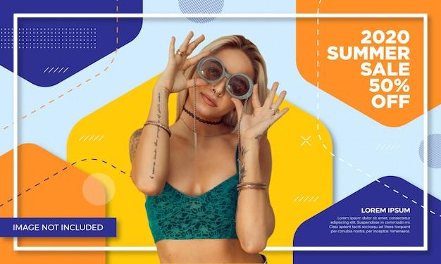 Werbeartikel verkauf banner vorlage Premium Vektoren