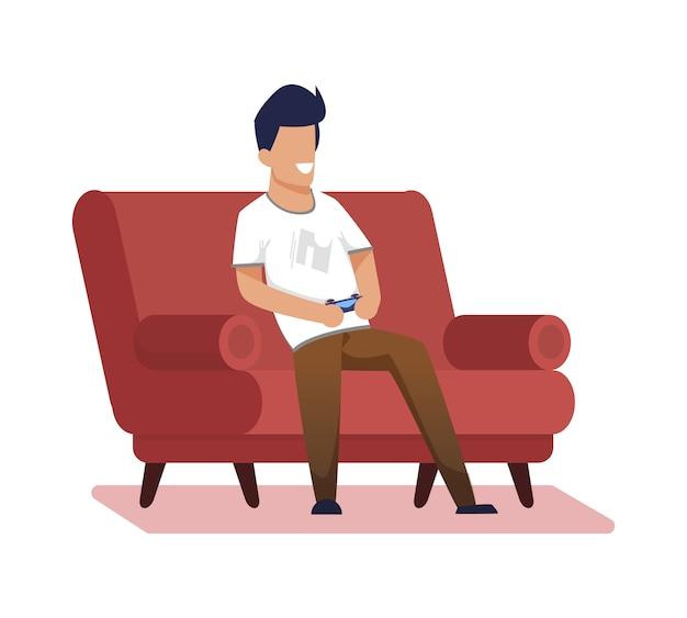 Werbebanner home-video-spiele cartoon flat. Premium Vektoren