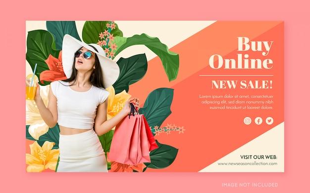 Werbebanner mode Kostenlosen Vektoren