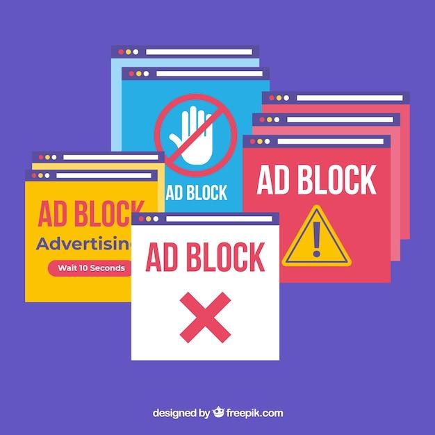 Werbeblocker-popup-konzept | Kostenlose Vektor