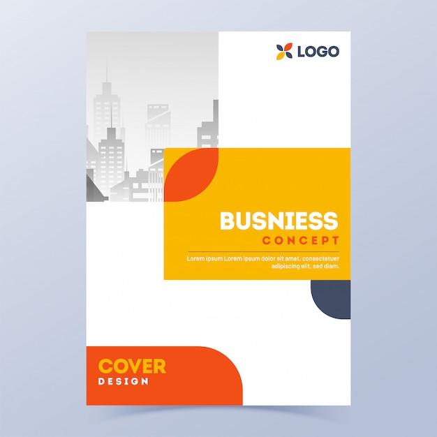 Werbedeckel oder broschüre für den unternehmensbereich. Premium Vektoren