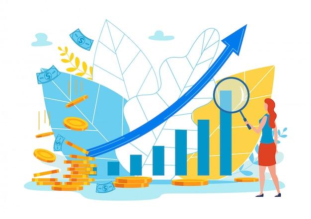 Werbeflyer budget allocation cartoon wohnung. Premium Vektoren