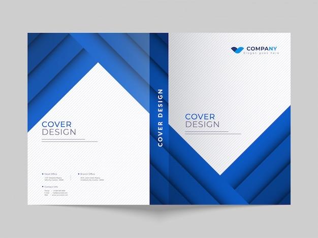 Werbegeschäfts-deckblatt-layout für den unternehmensbereich. Premium Vektoren