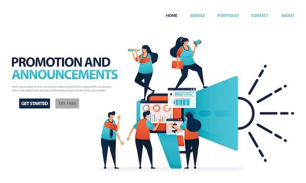 Werbung und ankündigung für multi-level-marketing-unternehmen, die leute kommen, um einen freund oder ein empfehlungsprogramm weiterzuleiten Premium Vektoren