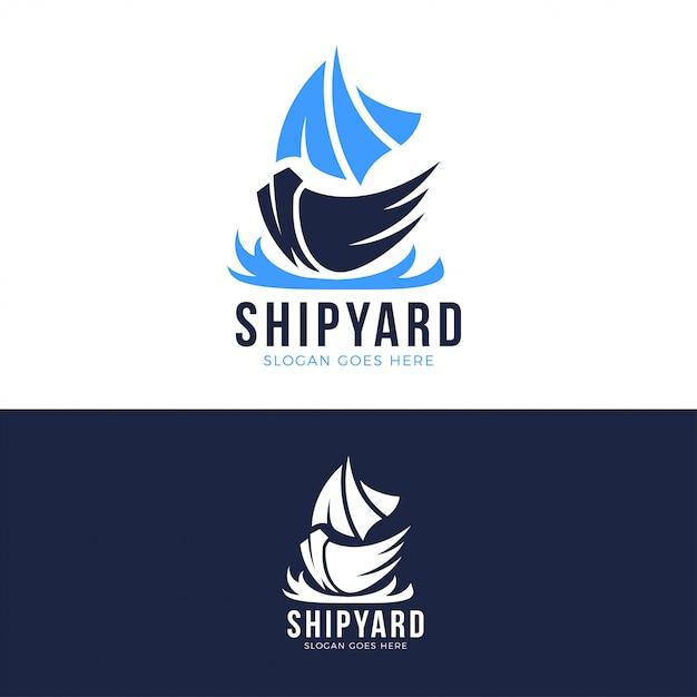 Werft logo vorlage Premium Vektoren